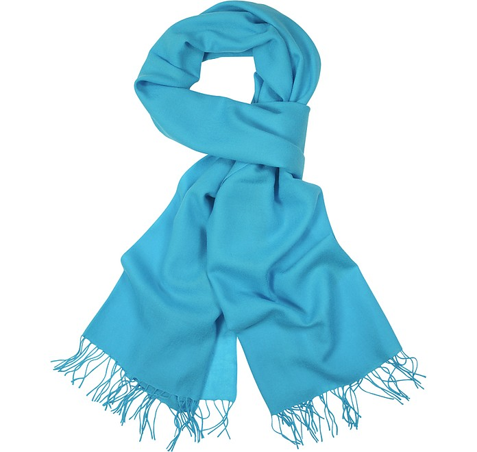 Fringed Solid Wool And Cashmere Wrap - Coveri Collection