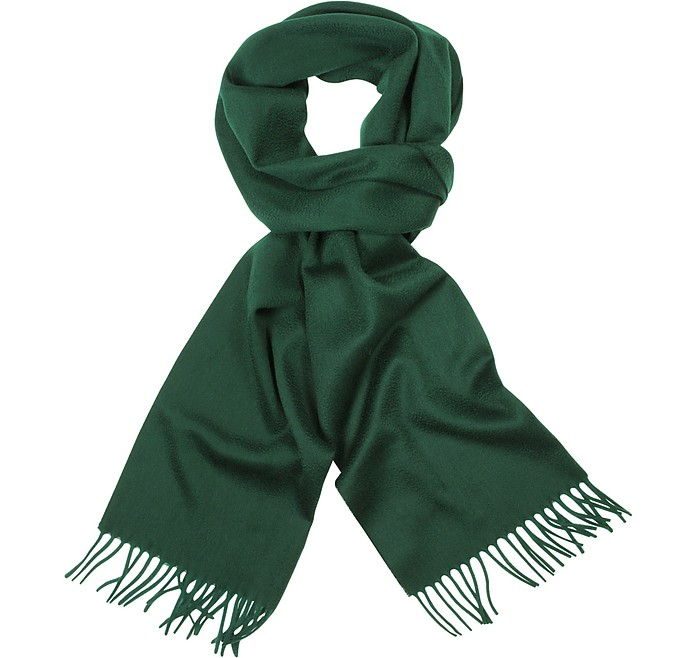 Solid Wool Fringed Long Scarf - Coveri Collection