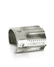 Revolver Sterling Silver Studded Cuff Bracelet w/Natural Ruby - Calibro12