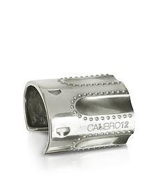 Bracelet en argent bruni avec rubis - Calibro12