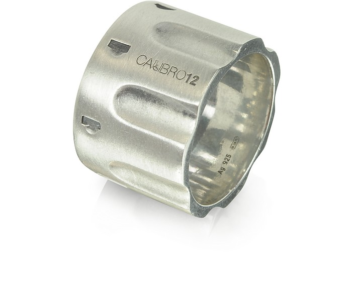 Revolver Sterling Silber Ring mit Kette - Calibro12