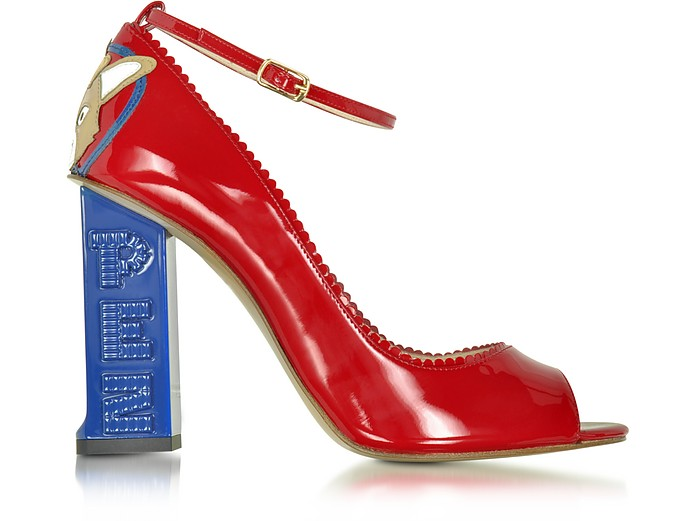 Pez Classics Princess Corgi Red Patent Leather Pump - Camilla Elphick