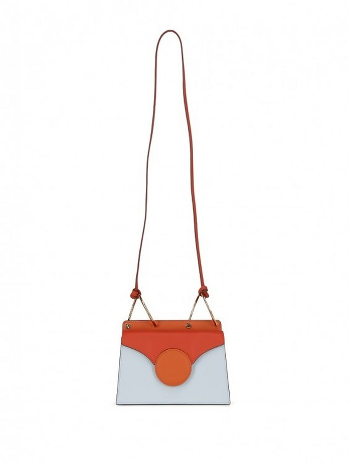 Color Block Leather Shoulder Bag - Danse Lente
