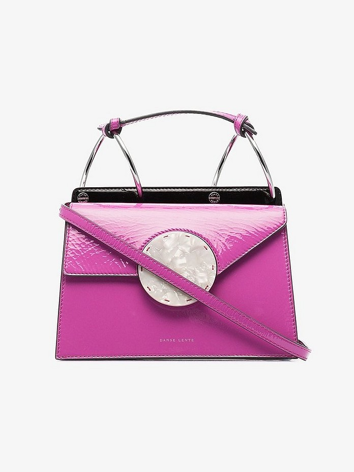 Magenta Phoebe Bis patent leather cross body bag - Danse Lente