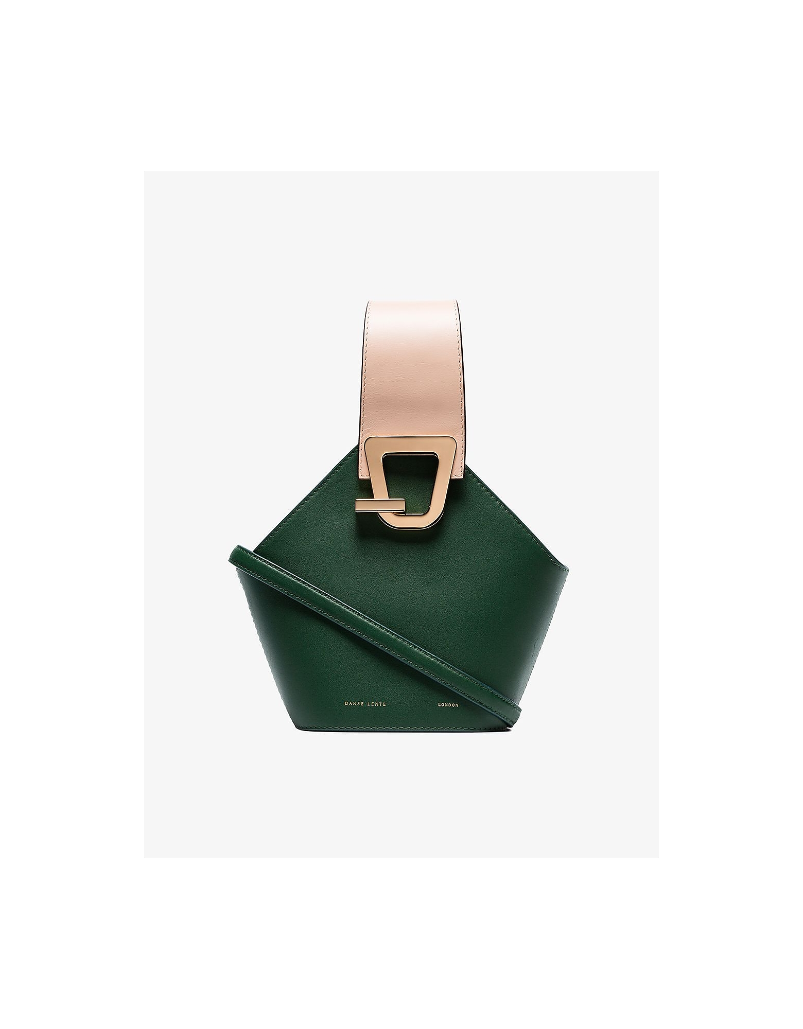 Danse Lente Bags GREEN JOHNNY MINI LEATHER BUCKET BAG