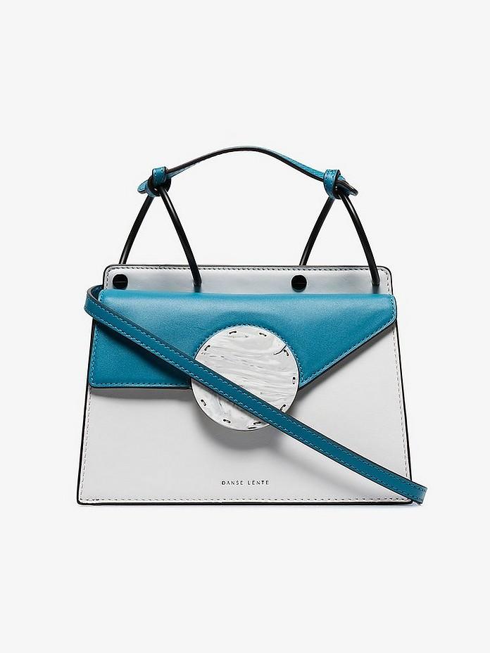 Danse Lente Crossbody Blue & White Phoebe Bis Leather Cross Body Bag
