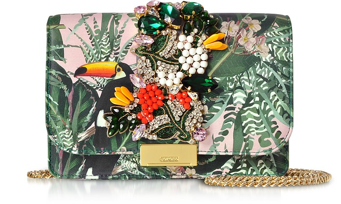 Cliky Toucan Clutch mit Jungelprint - Gedebe