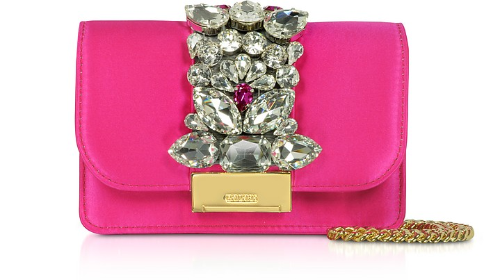 Satin Mini Cliky Clutch - Gedebe