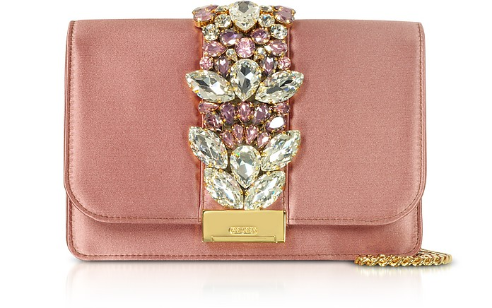 Blush Satin Cliky Clutch - Gedebe