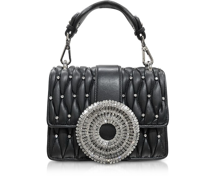 Gio Small Nappa Leather & Crystal Handbag - Gedebe