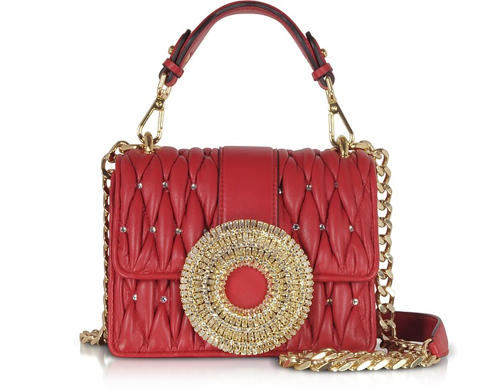 Gio Small Nappa Leather & Crystal Handbag - Gedebe