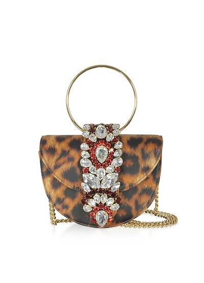 Mini Brigitte Animal Printed Leather Clutch - Gedebe