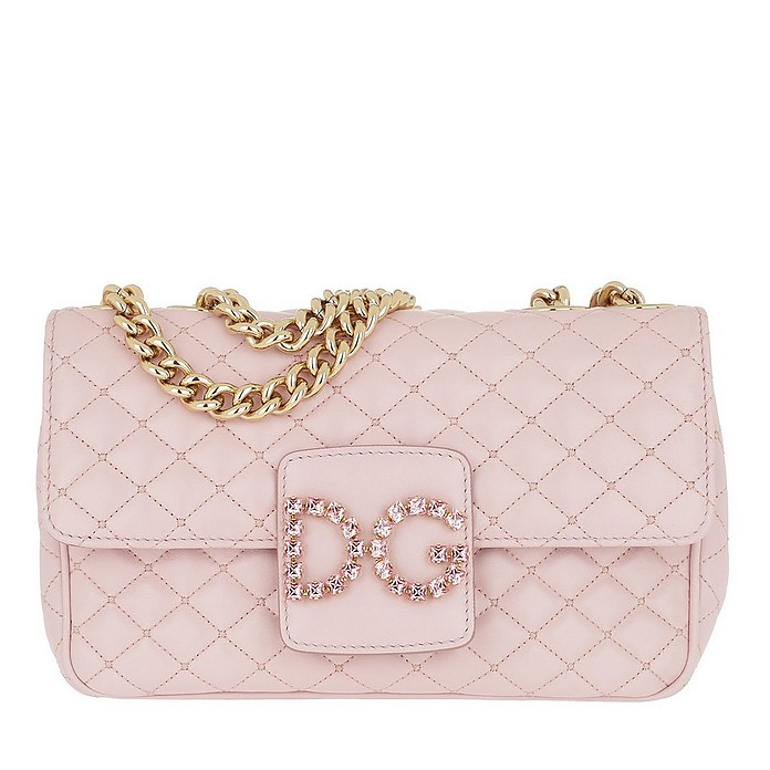 DG Matelassé Shoulder Bag Leather Rosa - Dolce & Gabbana