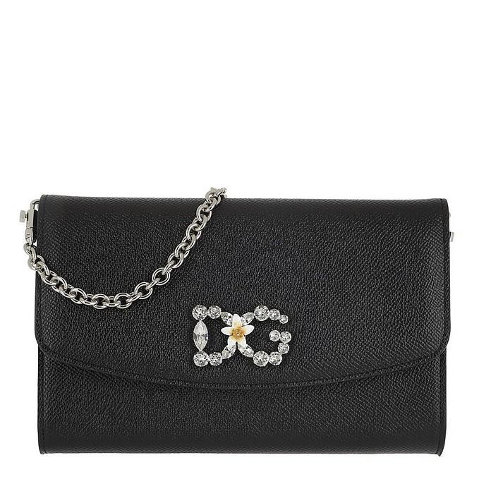 St. Dauphine Logo Wallet Nero - Dolce & Gabbana
