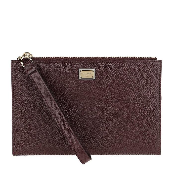 D&G Card Case Leather Vino - Dolce & Gabbana / ドルチェ&ガッバーナ