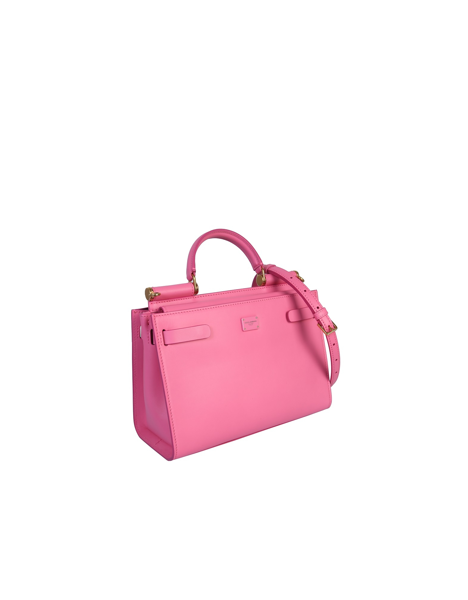 Dolce & Gabbana Small Soft Sicily Bag In Calf Leather In Pink