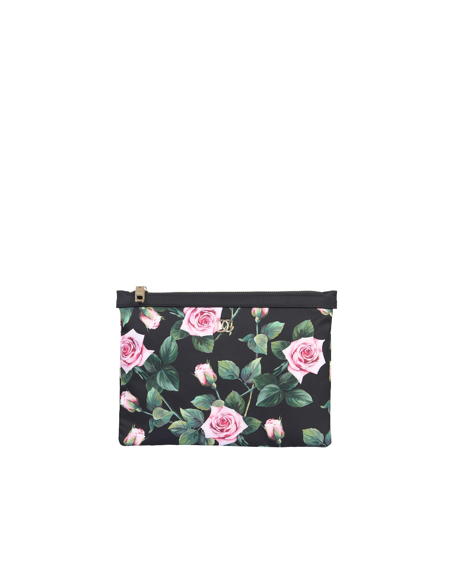 Dolce & Gabbana Flat Makeup Bag In Black