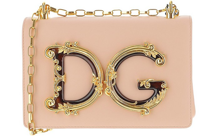 DG Girls Pink Leather Shoulder Bag - Dolce & Gabbana