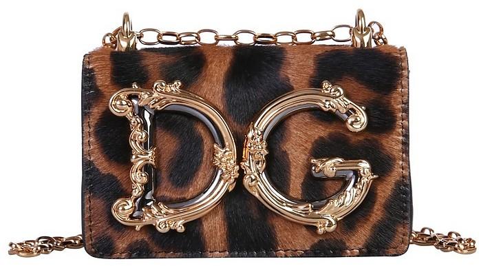 Leopard Micro Girls Crossbody Bag - Dolce & Gabbana