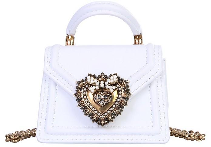 Optic White Micro Devotion Bag - Dolce & Gabbana