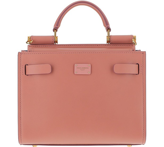 Peach Pink Leather Sicily 62 Mini Bag - Dolce & Gabbana