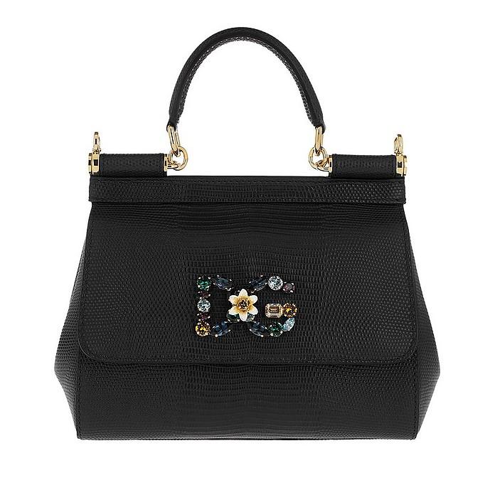 Sicily Small Tote Leather Black - Dolce & Gabbana
