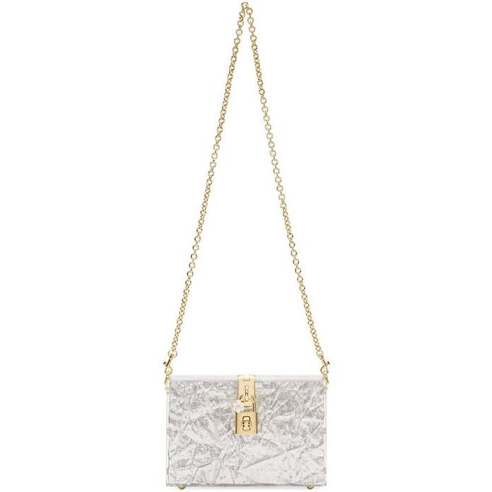 Silver and Transparent Box Clutch - Dolce & Gabbana