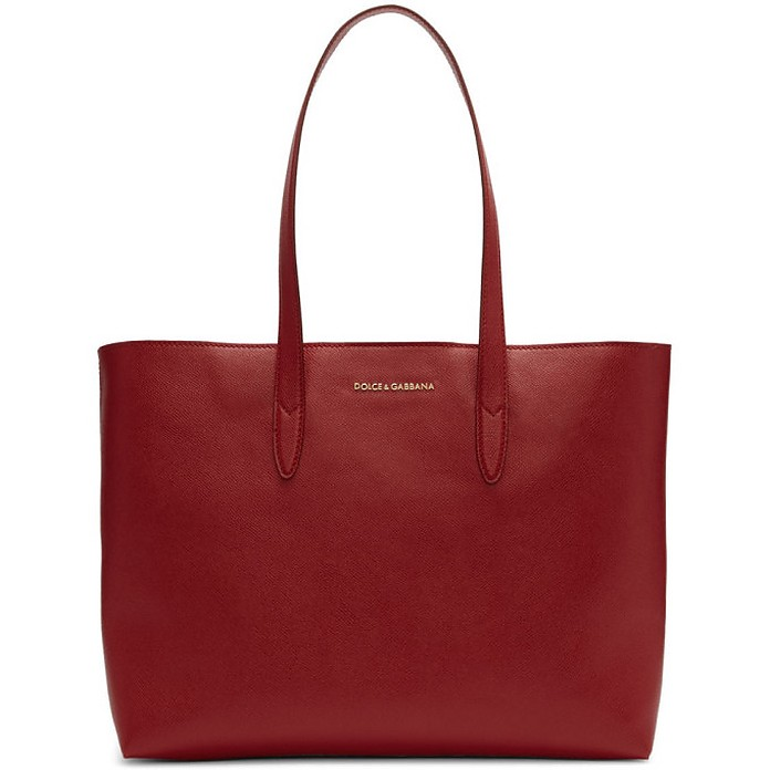 Red Dauphine Shopping Tote - Dolce & Gabbana