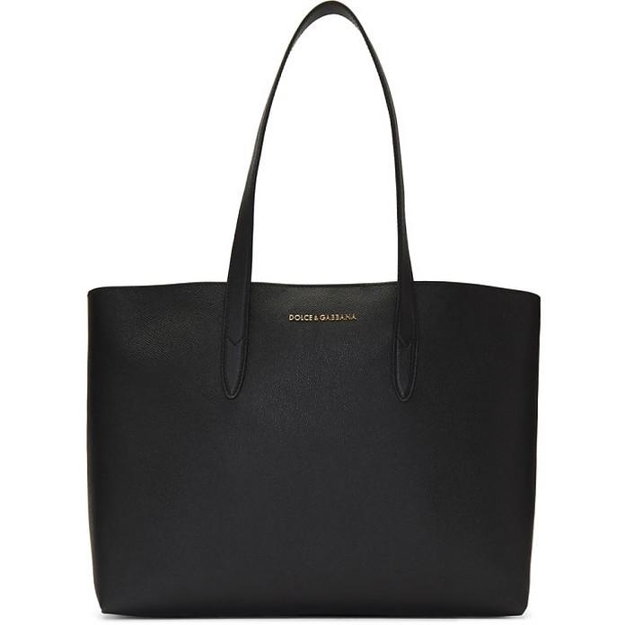 Black Dauphine Shopping Tote - Dolce & Gabbana