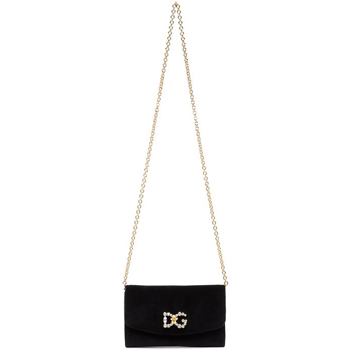 Black Velvet DG Mini Bag - Dolce & Gabbana