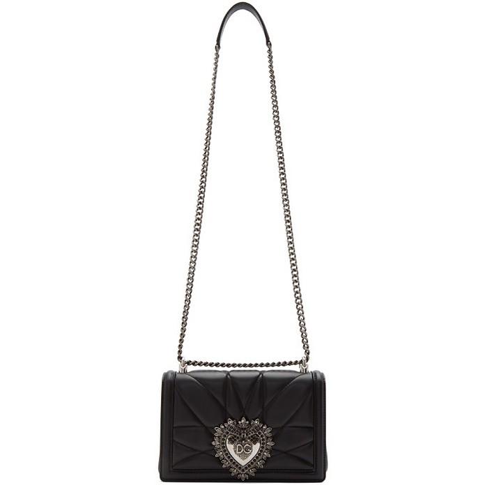 Black Medium Devotion Bag - Dolce & Gabbana