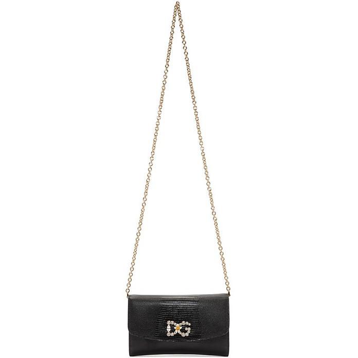 Black Iguana DG Mini Bag - Dolce & Gabbana