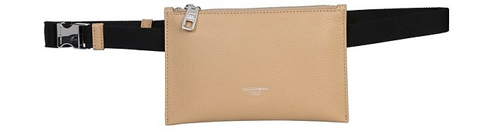 Dolce & Gabbana Colonial Edge Belt Bag In Beige