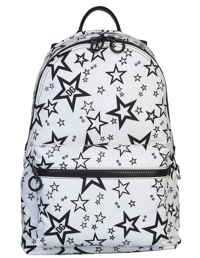 White Star Print Volcano Backpack - Dolce & Gabbana
