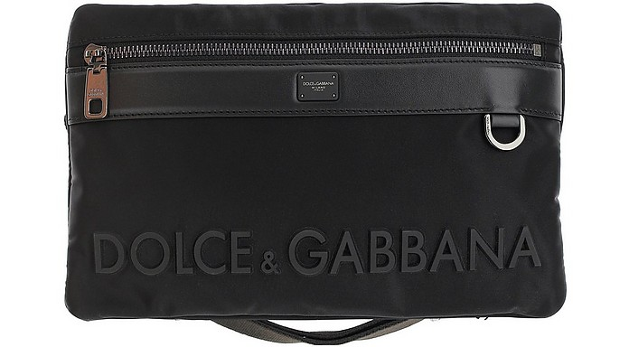 Nylon Beltbag With Logo - Dolce & Gabbana
