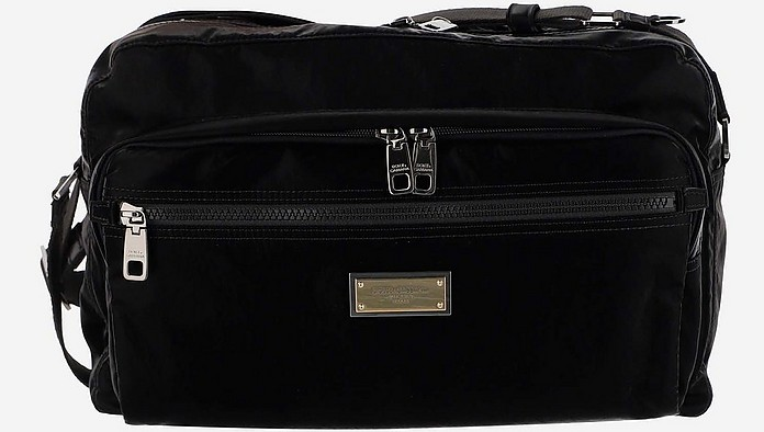 Sicilia DNA Black Nylon Messenger Bag - Dolce & Gabbana