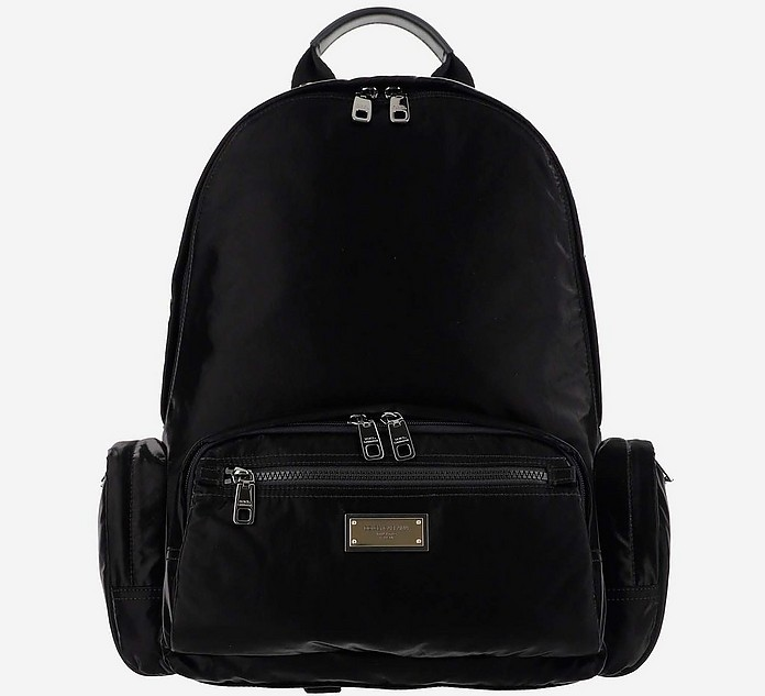 Black Sicilia DNA Nylon Backpack - Dolce & Gabbana