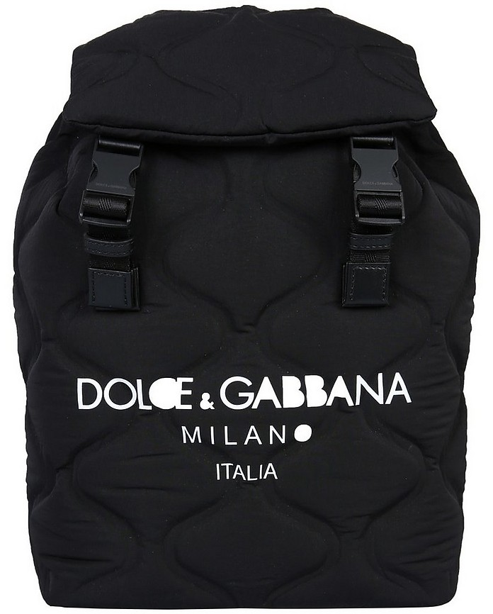 Black Quilted Nylon Palermo Backpack - Dolce & Gabbana