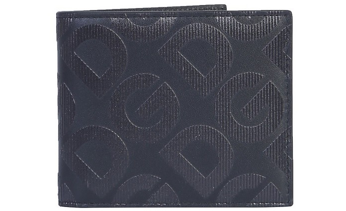 Black Signature Leather Bifold Wallet - Dolce & Gabbana