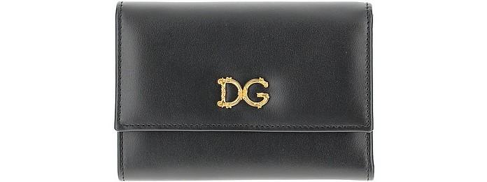 Black Wallet With DG Baroque Logo - Dolce & Gabbana