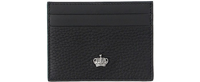 Black Leather Card Holder - Dolce & Gabbana
