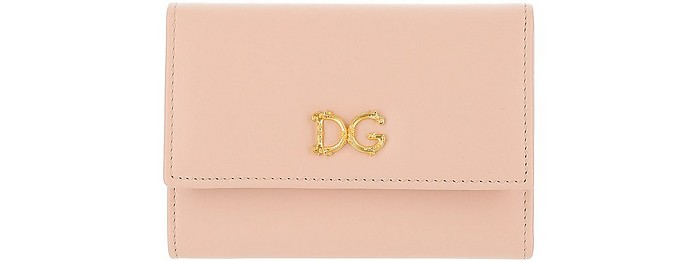 Wallet With DG Baroque Logo - Dolce & Gabbana