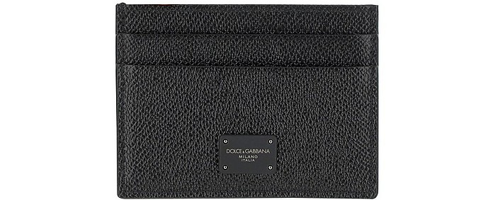 Douphine Black Leather Card Holder - Dolce & Gabbana / ドルチェ&ガッバーナ