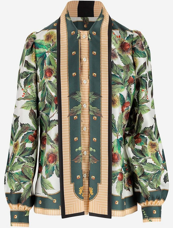 Women's Printed Silk Shirt - Dolce & Gabbana