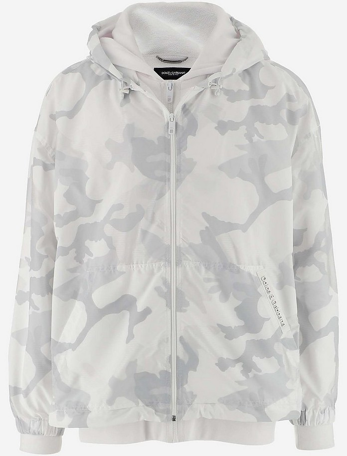 White Camouflage Print Jersey and Nylon Jacket  - Dolce & Gabbana / ドルチェ&ガッバーナ