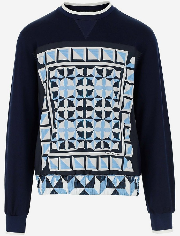 Majolica Print Round-neck Jersey Sweatshirt - Dolce & Gabbana / ドルチェ&ガッバーナ