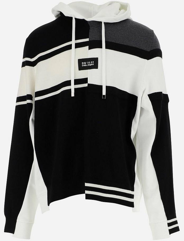 Color Block Cotton and Wool Men's Sweatshirt - Dolce & Gabbana / ドルチェ&ガッバーナ