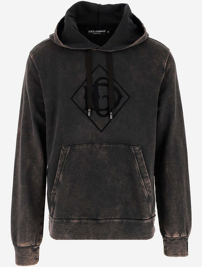 Lightened Cotton Men's Hoodie - Dolce & Gabbana