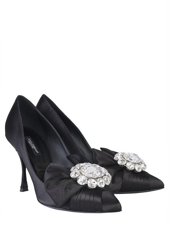 Décolleté With Bow And Crystals - Dolce & Gabbana