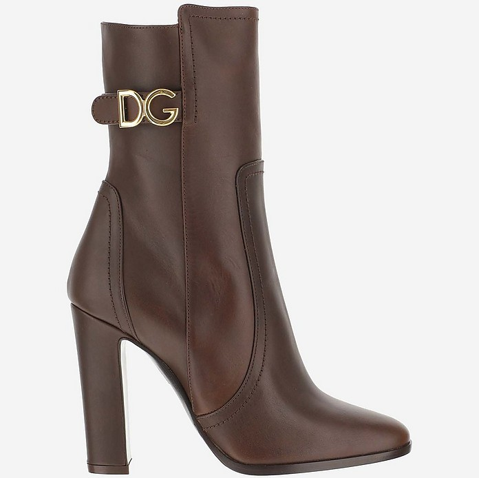 Brown Ankle Boots - Dolce & Gabbana
